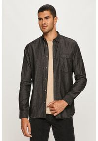 Only & Sons - Koszula jeansowa. Kolor: szary. Materiał: jeans. Wzór: gładki