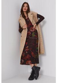 Desigual - Sukienka x Monsieur Christian Lacroix. Okazja: na co dzień. Materiał: tkanina. Długość rękawa: długi rękaw. Typ sukienki: proste. Styl: casual