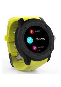 Żółty zegarek Maxcom smartwatch, casualowy