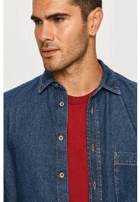 Niebieska koszula Diesel z klasycznym kołnierzykiem, na co dzień, klasyczna