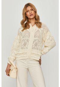 Sweter rozpinany TwinSet z długim rękawem, klasyczny, w ażurowe wzory, długi
