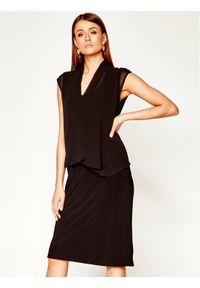 Czarna sukienka wieczorowa DKNY