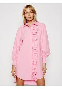 Różowa sukienka MSGM koszulowa