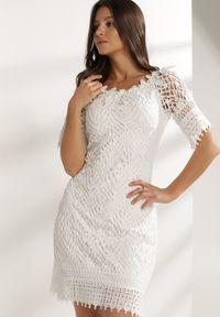 Renee - Biała Sukienka Elrinielle. Kolor: biały