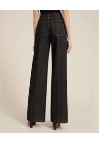 Luisa Spagnoli - LUISA SPAGNOLI - Jeansy z szerokimi nogawkami Odon. Stan: podwyższony. Kolor: szary