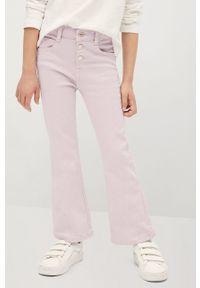 Fioletowe jeansy Mango Kids gładkie