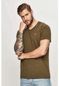 Oliwkowy t-shirt Levi's® na co dzień, casualowy