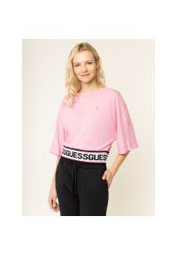 Różowy t-shirt Guess