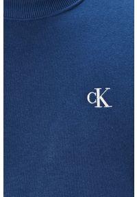 Niebieska bluza nierozpinana Calvin Klein Jeans bez kaptura, na co dzień, casualowa