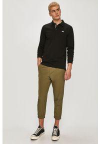 Zielone spodnie dresowe Kappa gładkie