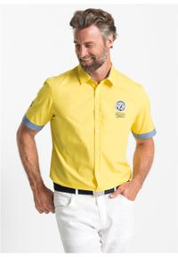 Koszula z krótkim rękawem i nadrukiem bonprix żółty ananasowy. Kolor: żółty. Długość rękawa: krótki rękaw. Długość: krótkie. Wzór: nadruk