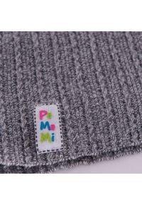 Wiosenna czapka dziewczęca PaMaMi - Jasnoszary. Kolor: szary. Materiał: bawełna, elastan. Sezon: wiosna