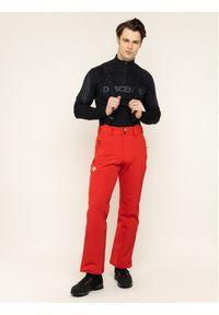 Czerwone spodnie sportowe Descente narciarskie