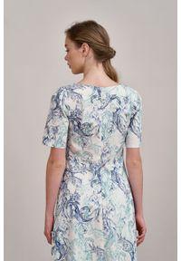 Marie Zélie - Sukienka Aerin Nyphae. Materiał: bawełna, skóra, materiał, elastan. Typ sukienki: trapezowe
