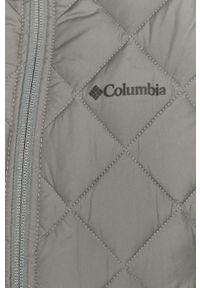 Szara kurtka columbia z kapturem, casualowa, na co dzień