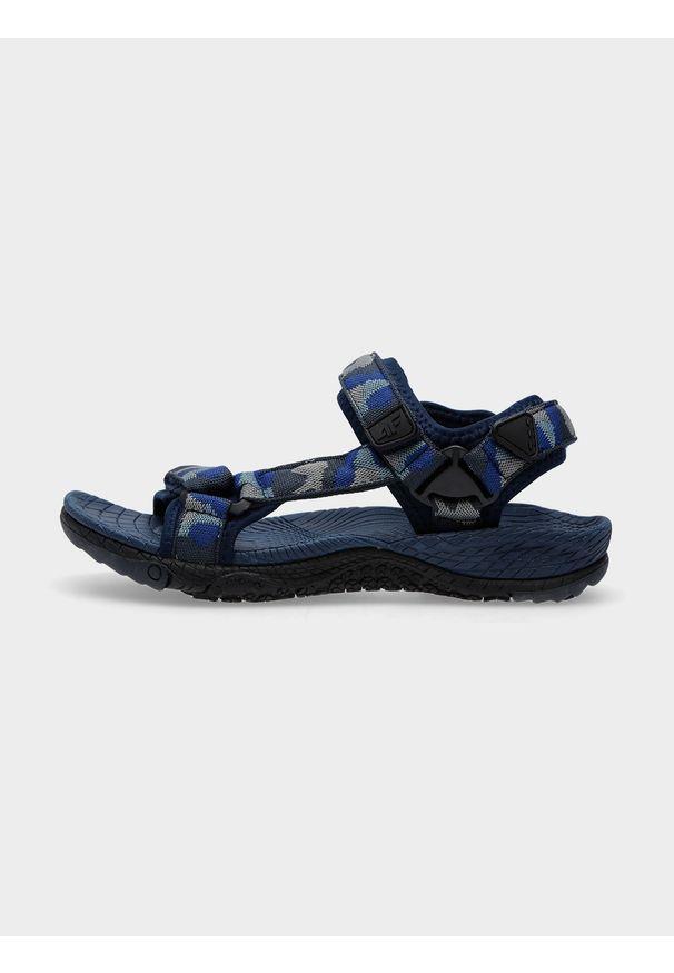 4f - Sandały chłopięce. Zapięcie: rzepy. Kolor: niebieski. Materiał: syntetyk, guma, materiał