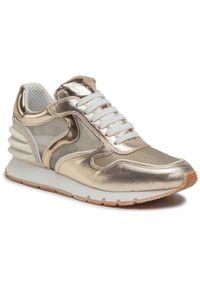 Złote buty sportowe Voile Blanche