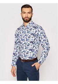 Tommy Hilfiger Tailored Koszula MW0MW17473 Niebieski Slim Fit. Kolor: niebieski