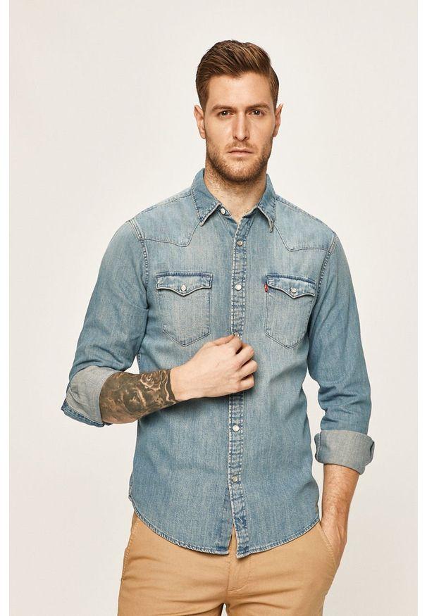 Niebieska koszula Levi's® długa, biznesowa, na co dzień