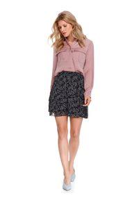 TOP SECRET - Klasyczna koszula damska. Kolor: różowy. Materiał: materiał. Długość rękawa: długi rękaw. Długość: długie. Sezon: wiosna. Styl: klasyczny