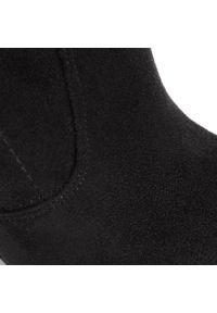 R.Polański - Kozaki R.POLAŃSKI - 0761/K Czarny Zamsz. Kolor: czarny. Materiał: skóra, zamsz. Szerokość cholewki: normalna. Obcas: na obcasie. Wysokość obcasa: średni