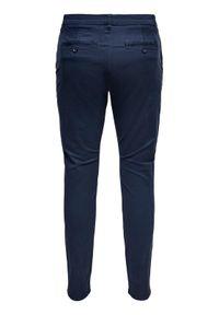 Only & Sons - ONLY & SONS Spodnie materiałowe Cam 22016775 Granatowy Regular Fit. Kolor: niebieski. Materiał: materiał #4