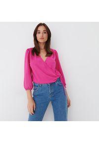 Mohito - Kopertowa bluzka - Różowy. Kolor: różowy