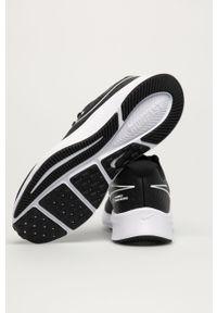 Czarne buty sportowe Nike Kids z okrągłym noskiem, na sznurówki, z cholewką