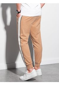 Brązowe spodnie Ombre Clothing casualowe, na co dzień