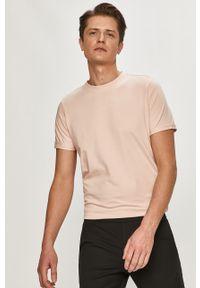 Różowy t-shirt Premium by Jack&Jones na co dzień, casualowy