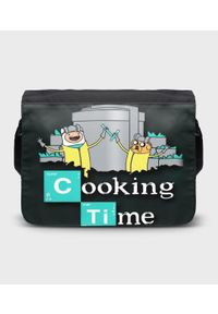 MegaKoszulki - Torba na ramię duża Cooking Time 2. Wzór: paski, nadruk