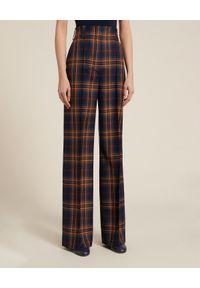 Luisa Spagnoli - LUISA SPAGNOLI - Wełniane spodnie Onix. Stan: podwyższony. Kolor: brązowy. Materiał: wełna
