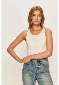 Biały top Pepe Jeans na co dzień, casualowy