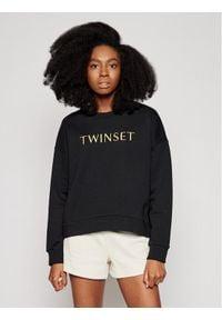 TwinSet Bluza 211LM28KK Czarny Relaxed Fit. Kolor: czarny