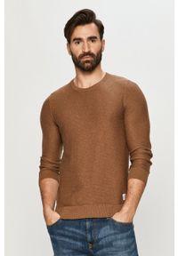 Tom Tailor - Sweter. Okazja: na co dzień. Kolor: brązowy. Materiał: materiał. Długość rękawa: długi rękaw. Długość: długie. Styl: casual