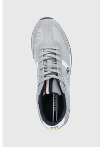 U.S. Polo Assn. - Buty. Nosek buta: okrągły. Zapięcie: sznurówki. Kolor: szary. Materiał: guma, syntetyk, materiał, skóra, zamsz. Szerokość cholewki: normalna #3