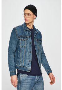 Niebieska kurtka Levi's® bez kaptura, na spotkanie biznesowe, casualowa