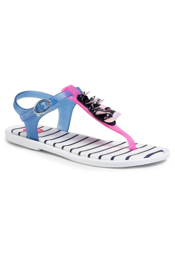 Niebieskie sandały Gioseppo z aplikacjami, na lato