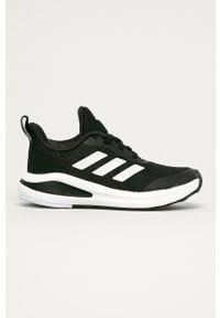 Czarne buty sportowe adidas Performance Adidas Cloudfoam, z cholewką, na sznurówki, z okrągłym noskiem