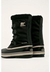 sorel - Sorel - Śniegowce. Nosek buta: okrągły. Zapięcie: sznurówki. Kolor: czarny. Materiał: guma. Szerokość cholewki: normalna