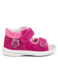Różowe sandały Superfit z aplikacjami #6