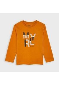 Mayoral Bluzka 173 Pomarańczowy Regular Fit. Kolor: pomarańczowy