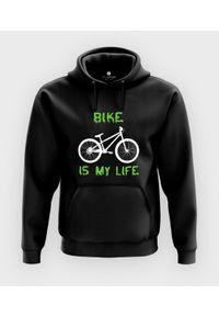 MegaKoszulki - Bluza z kapturem Bike is my life. Typ kołnierza: kaptur