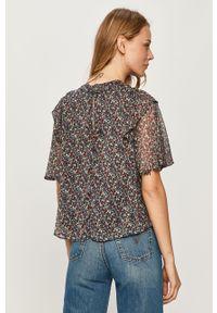 Wielokolorowa bluzka Pepe Jeans w kwiaty, z krótkim rękawem, na co dzień, casualowa