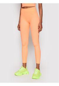 Pomarańczowe legginsy DKNY Sport sportowe