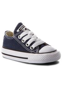 Converse Trampki Inf C/T A/S Ox 7J237C Granatowy. Kolor: niebieski