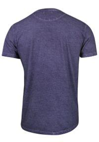 Fioletowy t-shirt Brave Soul z krótkim rękawem, na co dzień