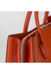 Wittchen - Kuferek skórzany trzykomorowy. Kolor: pomarańczowy. Materiał: skórzane. Styl: klasyczny, elegancki