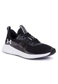 Czarne buty do fitnessu Under Armour z cholewką, na płaskiej podeszwie