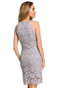 MOE - Koronkowa sukienka na wyjątkowe okazje. Typ kołnierza: dekolt halter. Materiał: koronka. Wzór: koronka